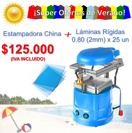 Estampadora + Laminas de 0.80 rigida(2mm) de Regalo