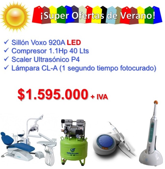 Voxo 920A LED + Compresor 1.1 40 Lts +  Lampara de 1SEG + Scaler P4 +  IVA INCLUIDO