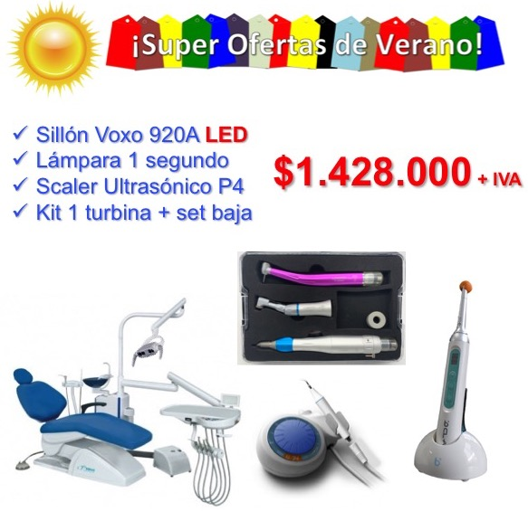 Voxo 920A LED + Lampara de 1SEG + Scaler P4 + Kit de 1 Turbina + Set de Baja  IVA INCLUIDO